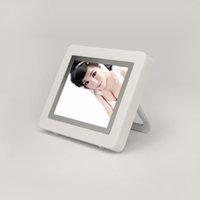 album display - Nice Gift inch Mini Acrylic TFT Digital Photo Frame Digital Picture Album MB Clock Calendar Display White Color