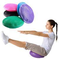 balance cushions - CM PVC Inflatable Air Yoga Massage Cushion Balance Disc Fitness Pad Mat W Pump