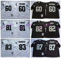 Wholesale Throwback AI Davis Jersey Men Dave Casper Otis Sistrunk Tim Brown Jerseys Retro Ted Hendricks Home Black White
