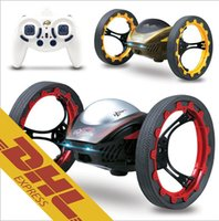 Wholesale 8pcs G CH RC Bounce Car Radio Remote Control Jumping Sumo Jump Robot Colors Happycow Toys for Kids Christmas Gift