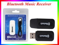 Wholesale Universal mm Streaming Car Wireless Bluetooth Car Kit USB Bluetooth Audio Music Receiver Adapter Handsfree For Iphone android speaker