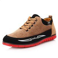 Caoutchouc respirante France-Hommes Chaussures Casual Chaussures Automne Automne Mode Chaussures En Cuir Lace-Up Wearproof Loisirs Plaine Respirant Chaussures De Marche S60