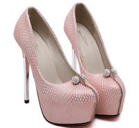 Розовые ноги Цены-Размер 35 ~ 40 Розовый Свадебные туфли на каблуках Сексуальная платформа Осень Женщины насосы Белый Женская обувь Zapatos Mujer (Проверить Длина ступни)