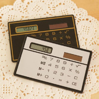 Wholesale Hot Ultra thin Mini Card Solar Energy Calculator Fashion Portable Slim Solar Power Pocket Calculator For Office Student
