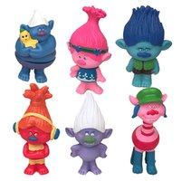 Wholesale 6 Set Dreamworks Movie Trolls cm PVC Action Figures Toys For Kids Christmas Gift For Christmas free DHL