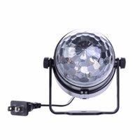 Wholesale Professional Mini RGB LED Crystal Magic Ball Stage Effect Lighting Lamp Bulb Party Disco Club DJ Light Show