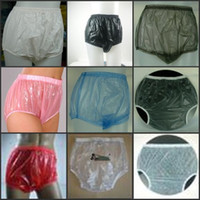 Wholesale 100 PVC pieces ADULT BABY diaper incontinence PLASTIC PANTS P005 Full Size
