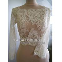 apparel applique - Long Sleeves Lace Jackets Shawls Boleros Wedding Jacket Bridal Wraps Jackets Wedding Apparel Accessories Wedding Jackets Wrap Winter