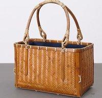 bamboo raw materials - Bamboo weaving bag Pure manual Natural raw materials Healthy and Eco friendly