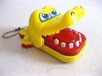 Wholesale Children Kid Crocodile Mouth Dentist Bite Finger Game Toy Creative Funny Gags Toys Random Color