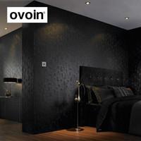Weiß / Schwarz / Lila / Grau Feste Farbe Flocking Geprägte Tapete 3D Mosaik  Fliese Wand Papier Roll Schlafzimmer Wandverkleidungen