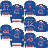 Wholesale 2016 World Series Champions Chicago Cubs Kris Bryant Anthony Rizzo Javier Baez Kyle Schwarber Jake Arrieta Long Sleeve Jerseys