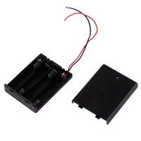 Wholesale 2pcs New Battery Srorage Box Holder AAA Battery Case with a Lid and Switch