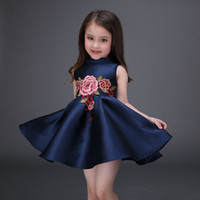 ball class - Baby Kids Clothing Girl s Dresses summer Spring Autumn high class Princess vintage Embroidered Ball Gown children party flower girl dress