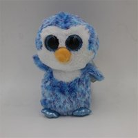 beanie babies penguin - Ty Beanie Boos Original Big Eyes Plush Toy Doll Child Birthday Blue Owl TY Baby Blue Penguin Plush Toy L195
