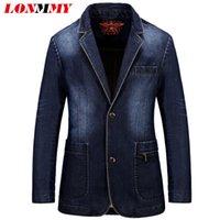 asia jeans - Asia size M XL Denim jeans blazer men Coat jacket Casual Slim Suits for men Cowboy blazer suit Brand clothing New