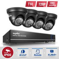 al por mayor sistema de vigilancia dvr cámara grande de la-SANNCE 8CH 720P 4 en 1 TVI DVR CCTV Sistema de cámaras de seguridad de vigilancia