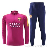 barcelona sportswear - New Barcelona tracksuits survetement MESSI football clothes long sleeves tight pants sportswear winter training suit