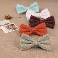 anchor necktie - Fashion Anchor Bow Ties for Men Women Corbata Gravata Wedding Bow Tie Cotton Bridegroom Butterfly Bowtie Necktie M0474