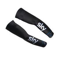 2017 SKY PRO EQUIPO BLUE BLACK S23 Ciclismo ARM Warmers manga Spandex Coolmax Lycra UV Protección Tamaño: S-XXL