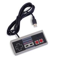 Precio de Pc joystick-Clásico USB Controlador Gaming joystick joypad para NES Windows PC para MAC controlador de juegos Gamepad