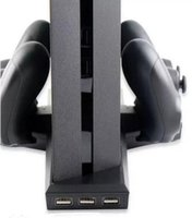 Wholesale High Quality in1 Console Stand Dock Cooling Fan Controller Charger for Playstation for SONY PS4 Black Color