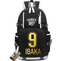 best day hiking backpack - Serge Ibaka backpack Basketball Best school bag block shot player daypack Star icon schoolbag Outdoor rucksack Sport day pack