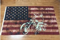 american flags banners - new high quality x5 ft American flag banner x150cm pirate retro motorcycle holiday party decoration supplies