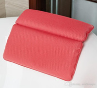 Wholesale New Hot Sale Memory Cotton Spa Bath Pillow with Suction Cup Bathroom Accessories