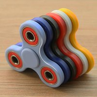 Wholesale 2017 Hand Spinner Tri Fidget Ceramic Ball Desk Focus Toy EDC For Kids Adults Free Shopping