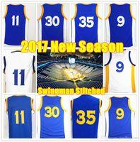 Wholesale 2017 New season Stitched Swingman GWS Curry Durant Iguodala Thompson Green Jersey Sport Retro Jerseys Sets
