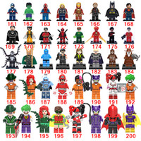 2017 Vente en gros 1-200 Style Marvel Avengers Super Hero Building Blocks Bricks comme Festival Gift Retail Gift Toys for Boys Collection