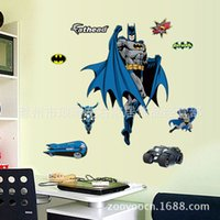 Removable baby boy backgrounds - TV cartoon characters superman pattern boy children room baby room bedroom living room TV sofa background decoration stickers