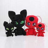 Wholesale 15cm cm Miraculous Ladybug and Cat Noir plush Toy Doll Lady Bug Adrien Marinette Plagg Tikki Plush Doll pendant keychain