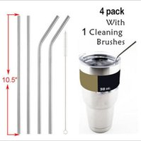 Wholesale YETI Stainless Steel Straw Beer Juice Brush Metal Drinking straight Cleaning Brush Set for Tumbler Rambler Cups