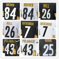 Wholesale 2017 hot sale Men jersey BROWN BELL ROETHLISBERGER POLAMALU BURNS BOYKIN HARRIS