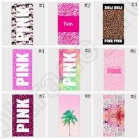 Wholesale Pink Letter Beach Towel cm Fitness Sports Towel VS Bath Towel Leopard Flower Swimwear Bathroom Towels styles OOA1258