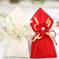 Cheap Favor Bags Flax gift bag Best Nonwoven Fabric Polygon Wedding candy bag
