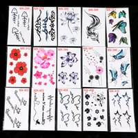 Wholesale 120 mixed batch Temporary Tattoos fashion Durable waterproof Tattoo stickers personality Imitation Makeup A small map Tattoo stickers