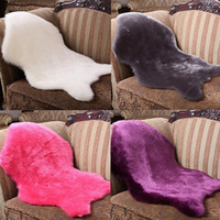 Wholesale 2017 New Soft Faux Sheepskin Rug Mat Carpet Pad Anti Slip Chair Sofa Cover For Bedroom Home Decor cm F908