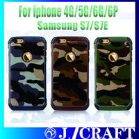 army armor - For iphone s Cell Phone Cases TPU PC Army Camo Luxury Camouflage Hybird Armor Phone Case For iphone plus Samsung S7