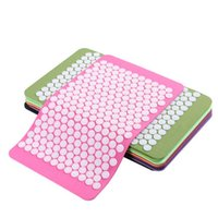 Wholesale Acupressure Mat for Back Neck Pain Relief Muscle Relaxation Pressure Plate Yoga Pad cm SE067