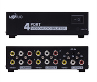 av audio splitter - 4 Port In Out RCA AV Audio Video TV Box HDTV DVD PS Splitter Amplifier