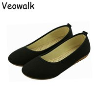 big old lady - Veowalk Big Size Chinese Style Women s Casual Work Shoes Ladies Old Peking Flat Soft Sole Breathable Cloth Shoes Black Coffee