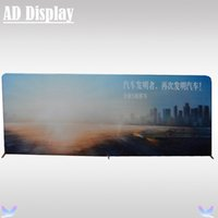 Wholesale 20ft ft High Quality Tension Fabric Straight Backwall Display Trade Show Booth Portable Aluminum Backdrop With Full Color Banner Printing