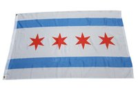 Wholesale THE NEW CITY OF CHICAGO FLAG feet flag america flag United states flag chicago banner