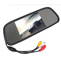 5inch 12V Universal HD Car Rearview Mirror Display LCD Digital DVD VCD Car Rearview Mirror Display Monitor support entrée vidéo