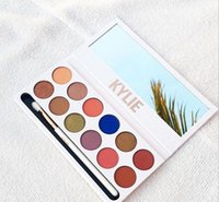 Wholesale New Kylie Cosmetics Jenner Kyshadow eye shadow Kit The Royal Peach Palette Eyeshadow BRONZE and BURGUNDY Palette Cosmetic