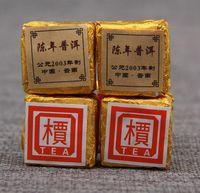 Wholesale 100 Organic puer tea QS Certification Chinese Puerh Mini Gold Brick g Yunnan Pu Er Cooked tea black oolong slimming freeshipping