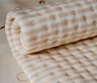 Wholesale nature colored muslin jersey cotton baby urine pad size x70cm bedding blanket unbleached soft TPU waterproof baby mat oeko tex certificate